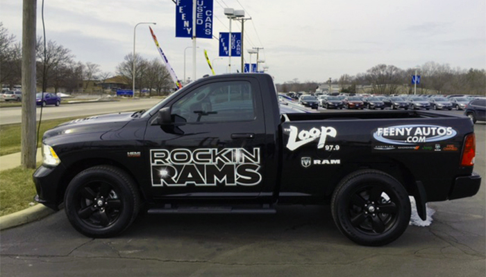 Vehicle Wrap Rockin Rams