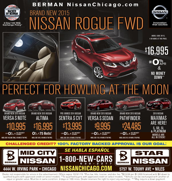 Newspaper Advertising Nissan