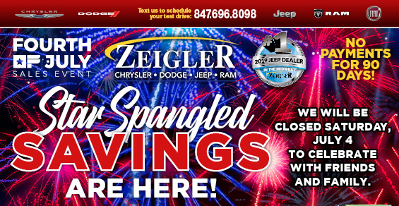 Star Spangled Savings are Here! | Zeigler Chrysler Dodge Jeep RAM | Schaumburg Illinois