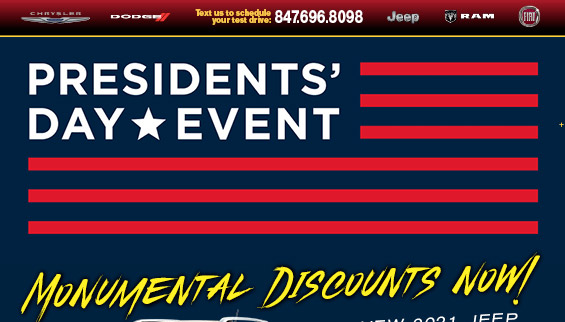 Presidents' Day Event | Zeigler CDJR | Schaumburg Illinois