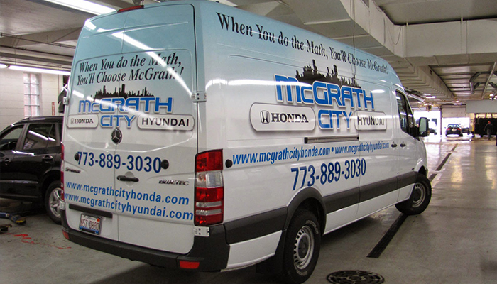 Vehicle Wrap McGrath City Honda/ Hyundai